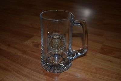 Gold Presidential Seal Glass Beer Mug - Stein - President Of The United States