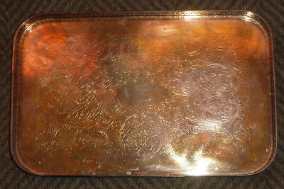 """Vintage Sheffield Silver Co. EPC Footed Reticulated Tray – 9"""" x 5.75"""""""