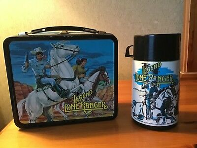 Vintage The Legend Of The Lone Ranger Lunchbox And Thermos