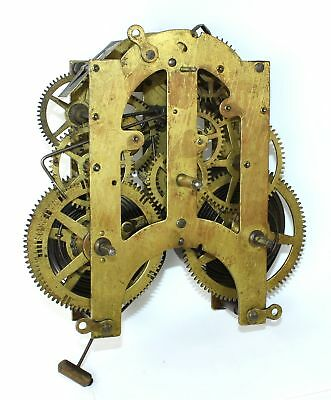 Ansonia 8 Day Time And Strike Clock Movement - For Parts Or Repair - Ad287