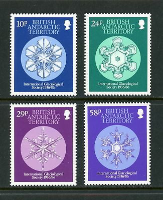 British Antarctic Territory Scott #133-136 MNH Int'l Glaciological Society CV$4+