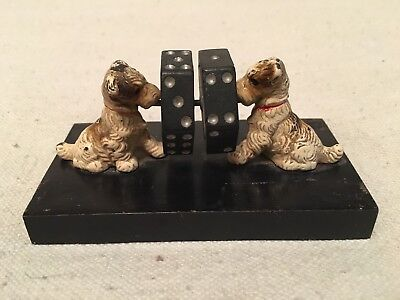 Rare Antique Hubley Spinning Dice Cast Iron Dog Game