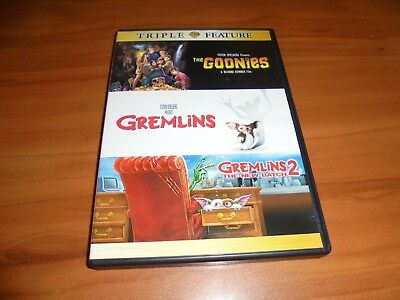 Goonies/Gremlins/Gremlins 2 (DVD, 2017, 3-Disc Widescreen) Used Phoebe Cates