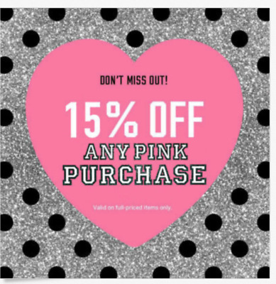 VICTORIA'S SECRET PINK 15% OFF Coupon Code - Any Purchase