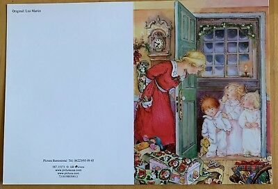 Rare Lisi Martin Christmas Card Signed By Artist Autographed Unused