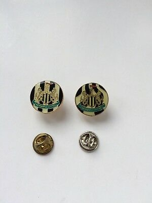 2x Newcastle United Pin Badges - Stripes and Swirls