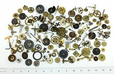 Vintage Clock Parts Wheels, Gears, & Stuff - Great For Steampunk Artwork! Dh411