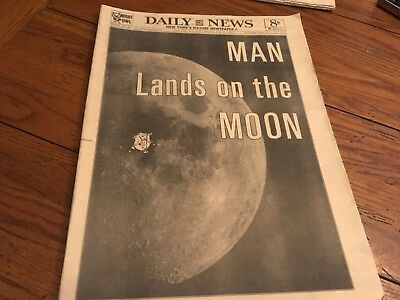 NEW YORK DAILY NEWS  Man Lands On The Moon July 21, 1969 COMPLETE EX APOLLO 11