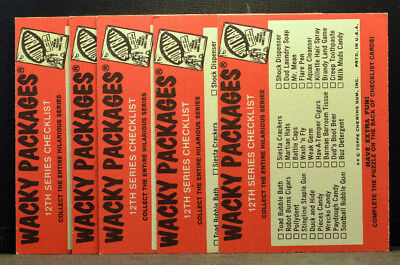 Set 9 1975 WACKY PACKAGES 12th Series Puzzie PIece FULL PUZZLE Checklist EX-NM+