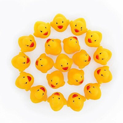 10 X Baby Bathing Floating Rubber Squeaky Ducks Play Water Bathing Pool Tub Toys