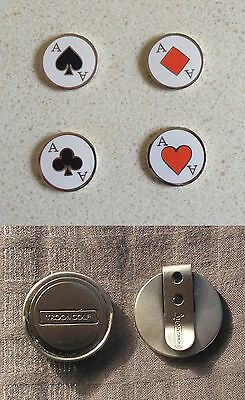 Golf Hat Clip & 2 Ace Ball Markers ( Markers Are Hand Crafted & Collectables)