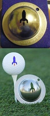 1 only TIN CUP GOLF BALL MARKER - LAUNCH IT - EASY TO DO