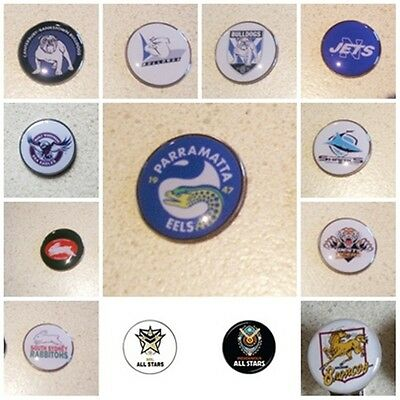 GOLF BALL MARKERS  25mm approx - MANY AVAILABLE  BULLDOGS, SOUTHS, ST GEORGE
