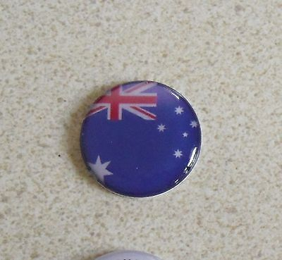 1 ONLY AUSTRALIAN GOLF BALL MARKER 25mm - A QUALITY  product - Aussie Flag