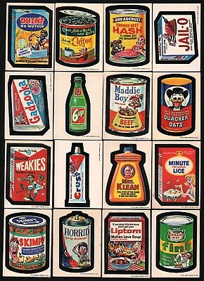 1973 Topps Wacky Packages Packs 1st Series Complete Set