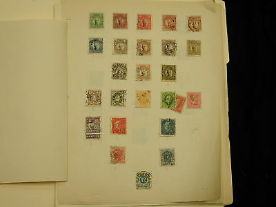 Sweden 1890s lot of cancelled 67 stamps