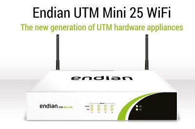 Endian UTM Mini 25 Wifi Networking Security Firewall Router