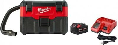 Milwaukee Cordless Wet/Dry Vacuum 2 Gal. HEPA Filter 18-Volt Battery And Charger