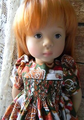 Holiday Smocked Dress for a Natterer by Gotz & a Kidz n Cats...by lkb