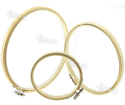 Portable Wooden Cross Stitch Embroidery Hoops Rings Frames 4 6 8 Inch 3 Sizes