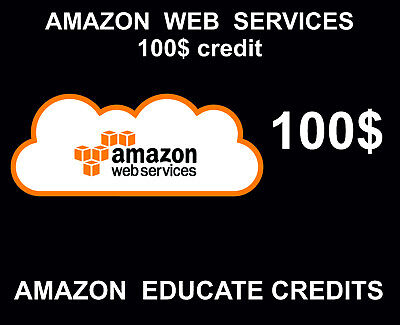100 Amazon Web Services Credits, Educate AWS, Promocode, 2018, 2019 Event