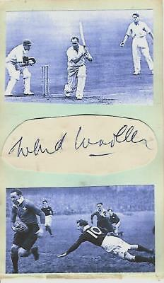 Signed Wilf Wooller 1912-1997 Glamorgan Sale Cardiff Wales Barbarians 1930s 40s