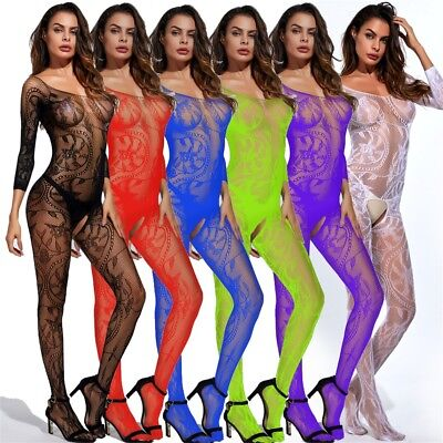 Ladies Strappy Plunge V Neck Full Lace Bodysuit Womens Bodycon Tops Lingerie