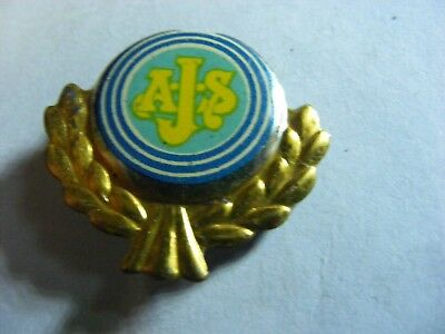 AJS..  motorcycle very old lapel,hat pin badge(F)
