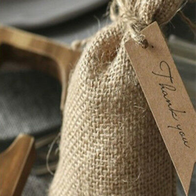 100pcs Kraft Paper Hang Tags Wedding Party Favor Label Thank You Gift Card