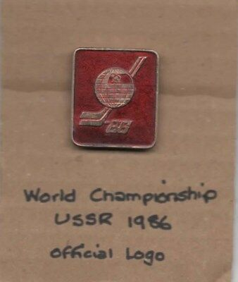 1986 World Championship Moscow official logo -  Lapel badge