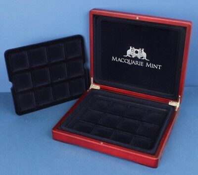 Deluxe Wooden Coin Case to hold crown size coins