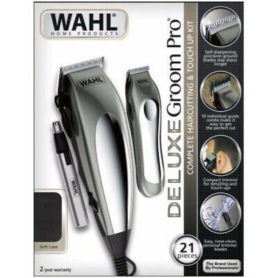 WAHL Mens Hair Clippers Cordless Beard Trimmer Professional Haircut Set Shaver