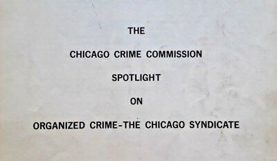 ✶American Crime History «Chicago Syndicate» Mafia Documents 1960s Antique✶