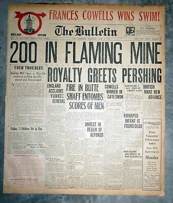 Granite Mountain Speculator Mine Montana Disaster 1917 San Francisco Front Page