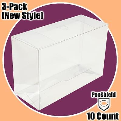 10 Pack FUNKO Pop Shield! BOX PLASTIC PROTECTOR for 3-PACK (Fits Snap/Crack/Pop)