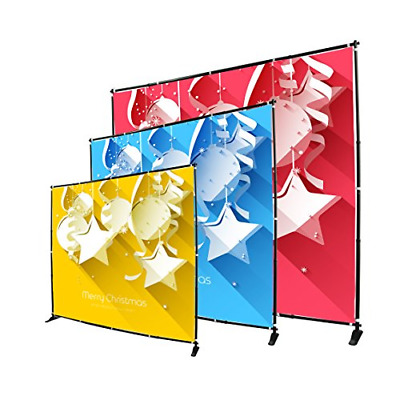Display Factory USA 8' Telescopic Photography Banner Stand Step and Repeat Wall