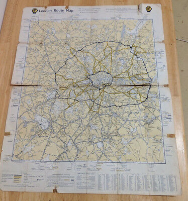 Vintage 1960's AA London West End and Route Maps - Would Look Great Framed !