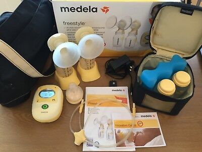 medela freestyle double electric breast pump used