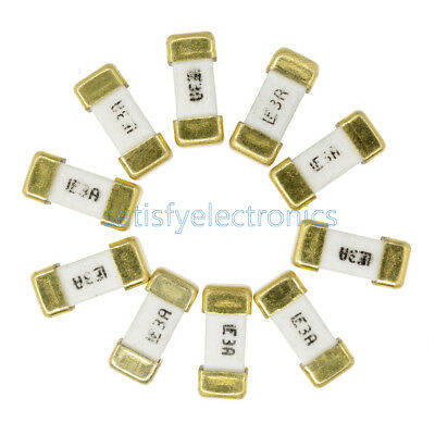 10PCS Littelfuse Fast Acting SMD SMT 1808 3A 125V Surface Mount Fuse