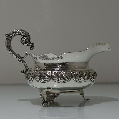 Early19th Century Antique William IV Sterling Silver Sauceboat Lond 1832 Hennell