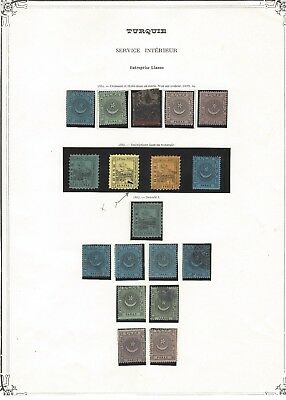 TURKEY 1865-1867 LIANOS LOCALS collection early classic stamps on old album page