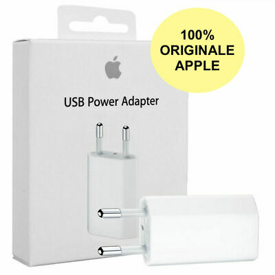 Carica Batteria/Caricatore Originale Per Apple Iphone 5 6 7 8 X Md813