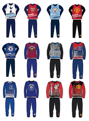 Boys Kids Football Pyjamas Set Children Sleepwear Nightwear Age 2-12 Years