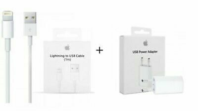 Carica Batteria ORIGINALE + Cavo Apple Lightning ORIGINALE iPhone 6 S 7 8 X IPAD
