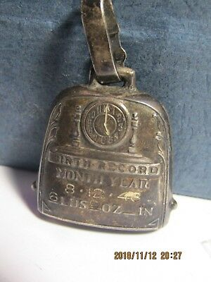 Vintage Birth Record Sterling Silver Pendant /charm
