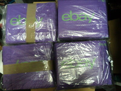 100 eBay Branded Packaging Padded Bubble Plastic Mailers 200mm x 260mm 40mm Lip