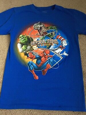 Adult S UNIVERSAL STUDIOS Florida  official T-shirt Spider-Man Shrek Seuss