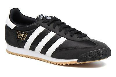 new concept 77f3e 94299 Mens Adidas Originals Dragon Og Low Rise Trainers In Black - Size Uk 6  Eu