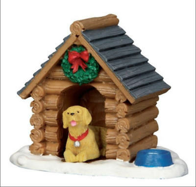 NEW Lemax Christmas Train Village The LOG CABIN DOG HOUSE Figurine #54943