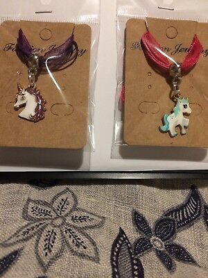 Small Joblot Of 2 Unicorn Necklaces